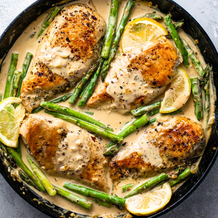 Creamy Lemon Chicken With Asparagus | Best Recipes 101 from Clean Eats Malaysia