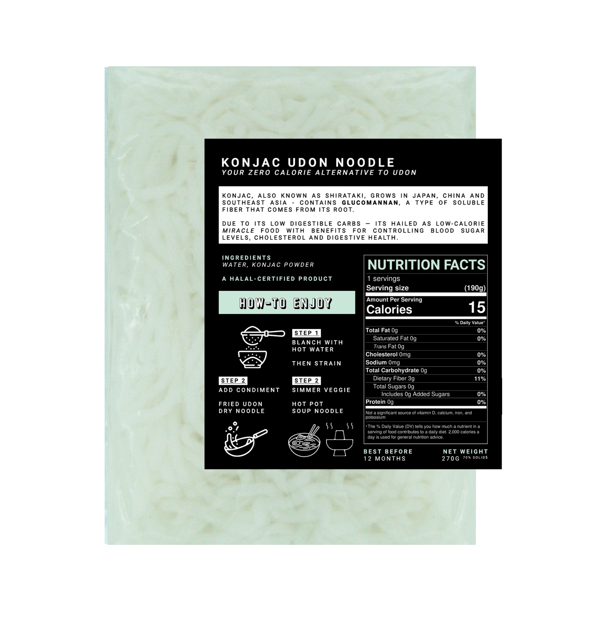 Konjac Udon Noodle | Shirataki Keto Diet Malaysia
